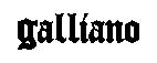 Galliano логотип