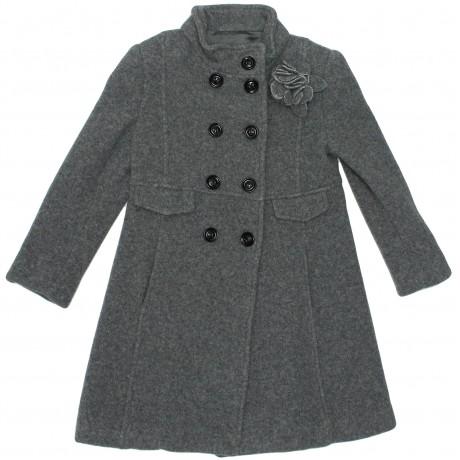 Пальто шерстяное серое Aletta