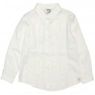 Блуза белая с ажурными вставками