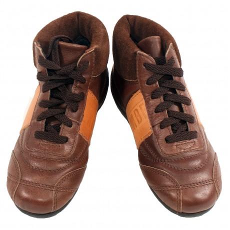 Кеды коричневые кожаные Bikkembergs
