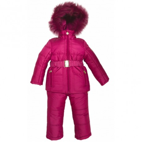 Комплект куртка и комбинезон розовый Borelli