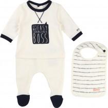 Пижама со слюнявчиком Hugo Boss J98169-195