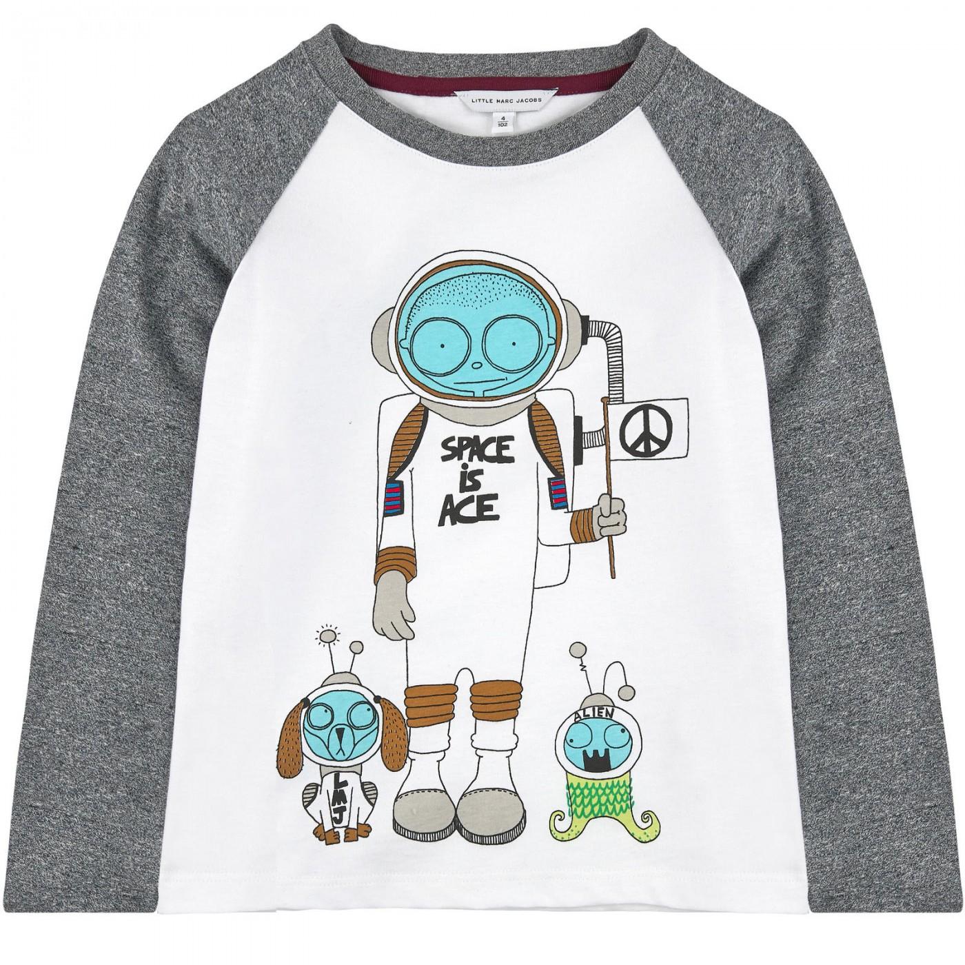 Футболка с длинными рукавами Little Marc Jacobs W25172-N00
