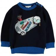 Пуловер темно-синий
