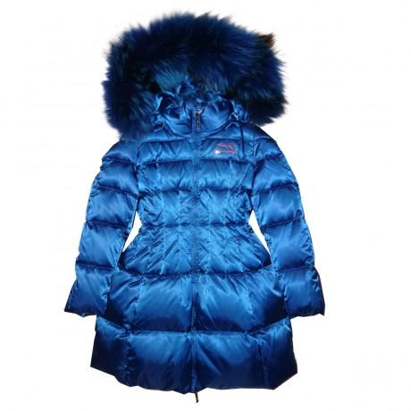Синее зимнее пальто Manudieci
