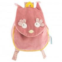 Рюкзак розовый Совушка Moulin Roty 711515