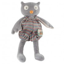 Мягкая игрушка Сова серая Moulin Roty 711536