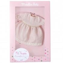 Платье кукольное розовое Moulin Roty 711538