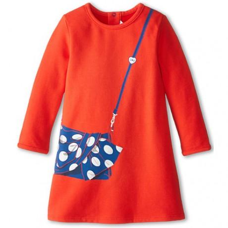 Красное платье Little Marc Jacobs