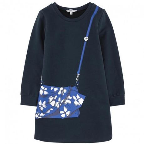 Платье синее с принтом Little Marc Jacobs