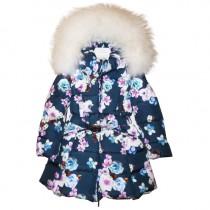 Пальто с белым мехом Manudieci P1179541