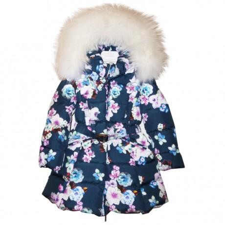 Пальто с белым мехом Manudieci
