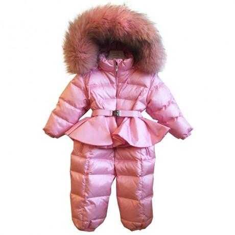 Комбинезон розовый зимний Manudieci