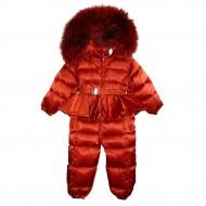 Красный зимний комбинезон
