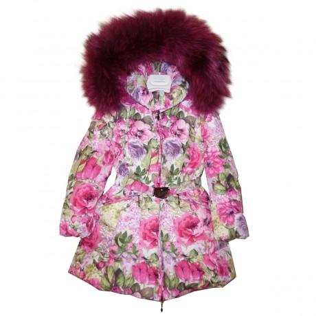 Пальто зимнее с мехом Manudieci