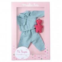 Пижама кукольная голубая Moulin Roty 711505