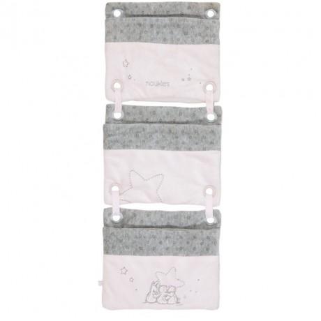 Органайзер для кроватки розовый Noukies