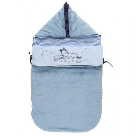 Конверт для новорожденных голубой Noukies