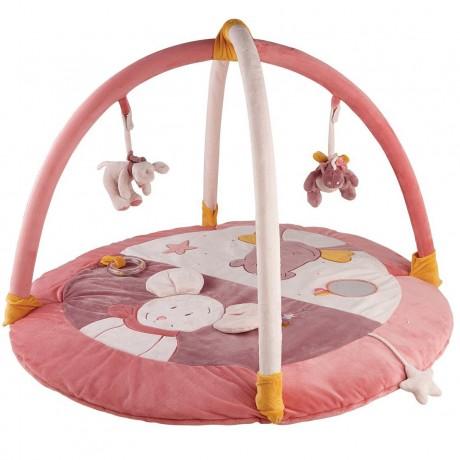 Развивающий коврик розовый Noukies